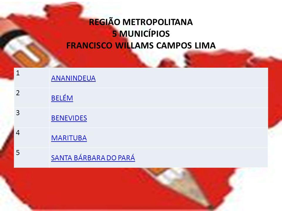 REGIÃO METROPOLITANA 5 MUNICÍPIOS FRANCISCO WILLAMS CAMPOS LIMA