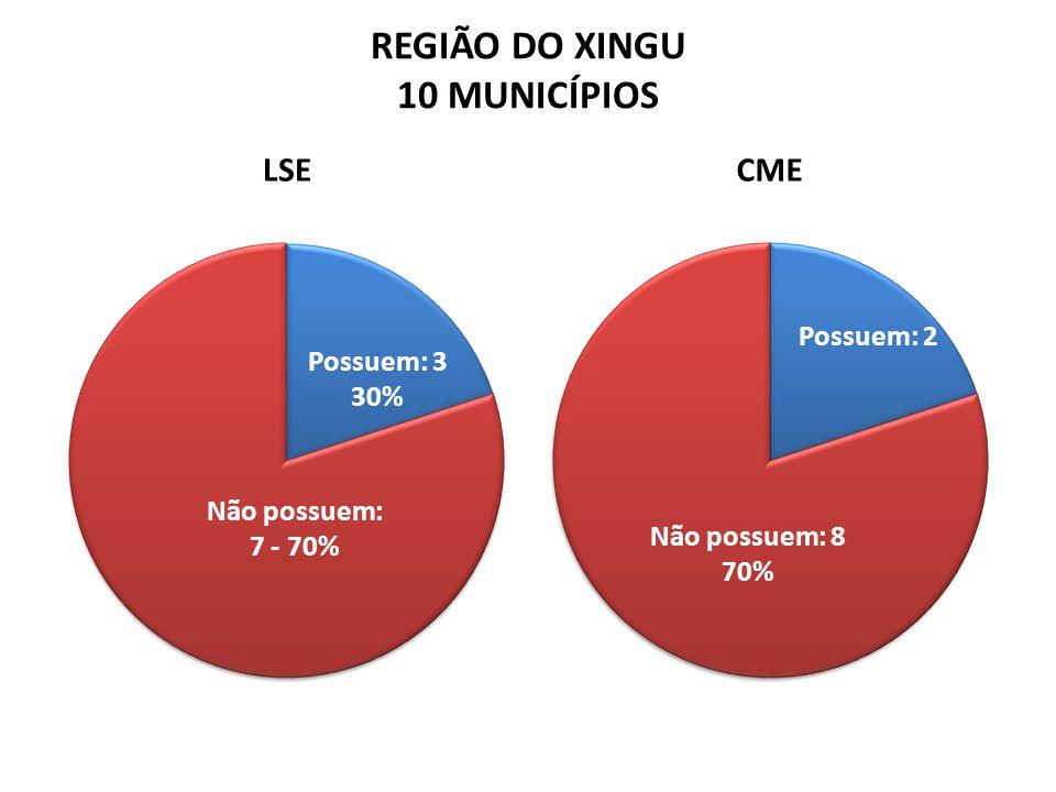 REGIÃO DO XINGU 10 MUNICÍPIOS