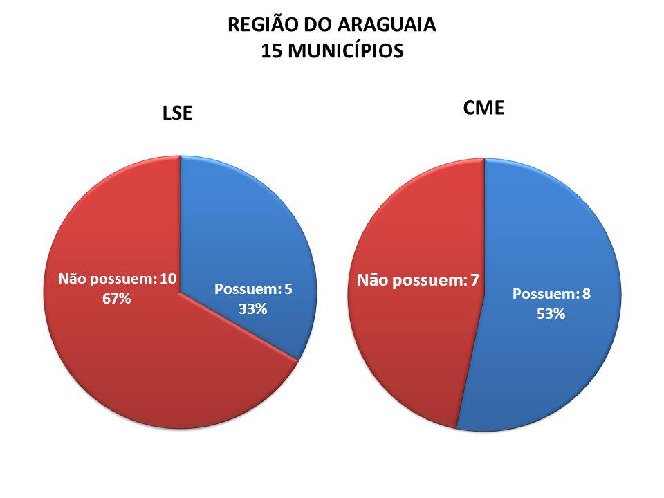 REGIÃO DO ARAGUAIA 15 MUNICÍPIOS