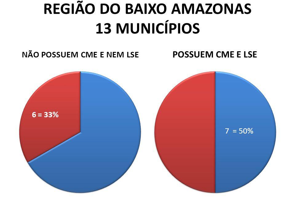 REGIÃO DO BAIXO AMAZONAS 13 MUNICÍPIOS