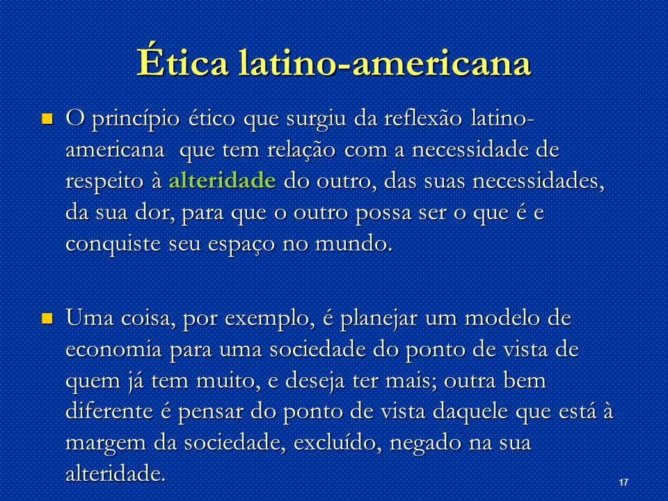Ética latino-americana