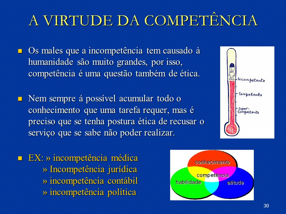 A VIRTUDE DA COMPETÊNCIA