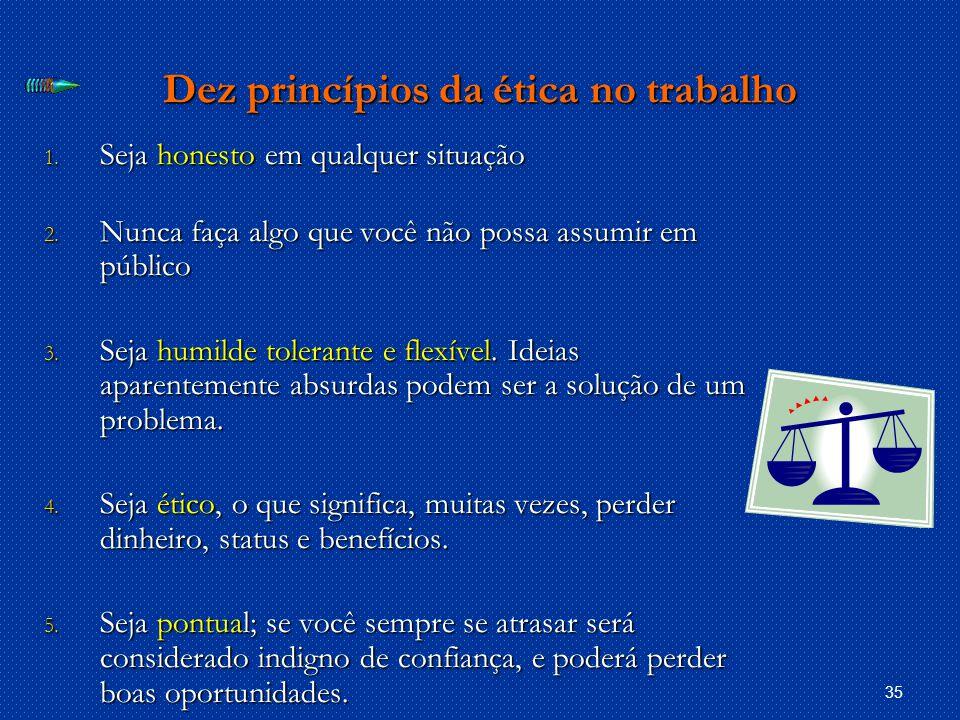 Dez princípios da ética no trabalho