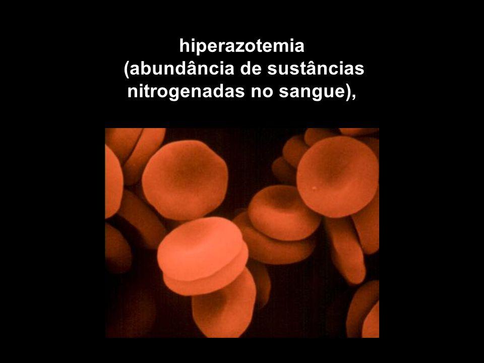 (abundância de sustâncias nitrogenadas no sangue),