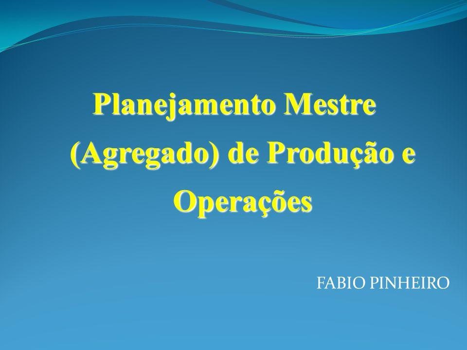 Planejamento Mestre (Agregado) de Produção e Operações