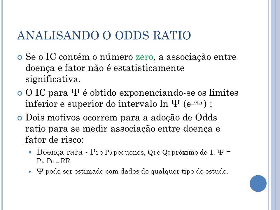 ANALISANDO O ODDS RATIO