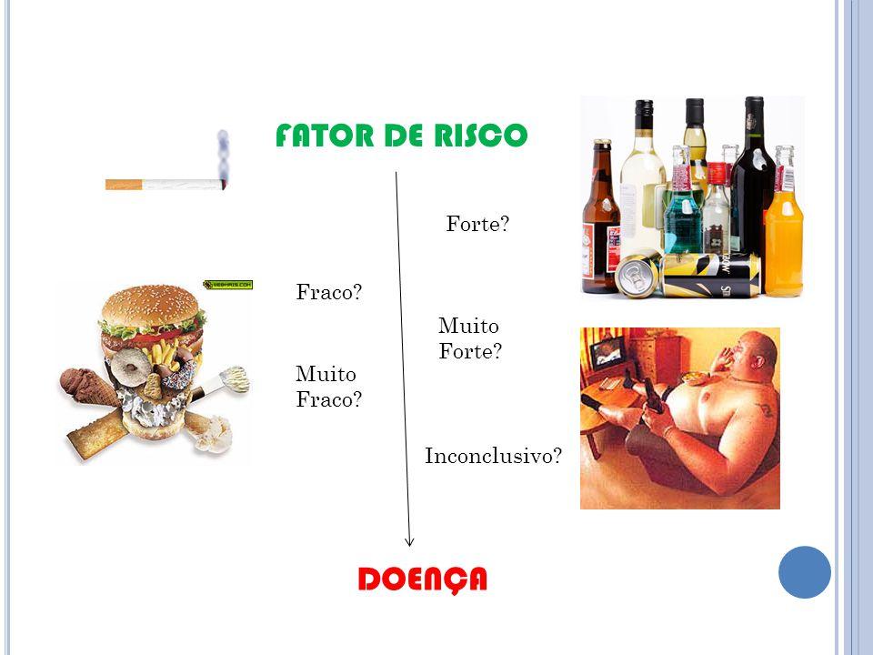 FATOR DE RISCO DOENÇA Forte Fraco Muito Forte Muito Fraco