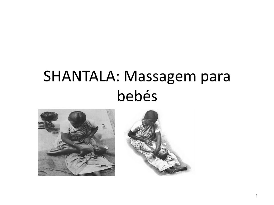 SHANTALA: Massagem para bebés