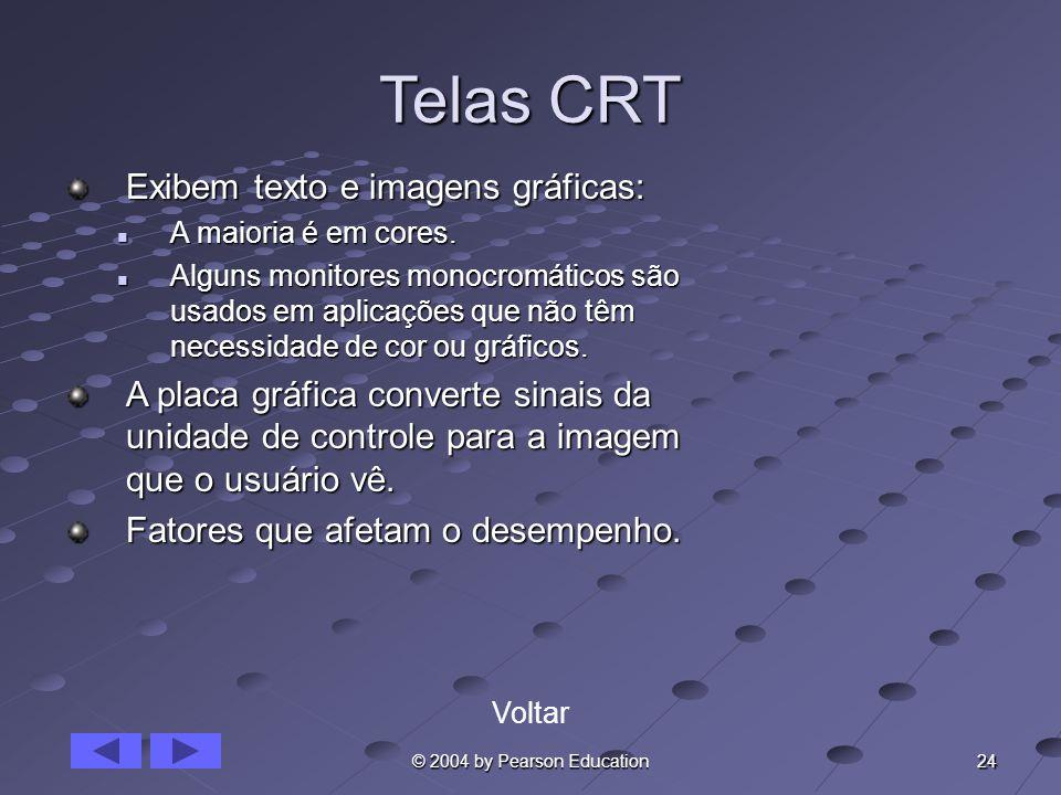 Telas CRT Exibem texto e imagens gráficas: