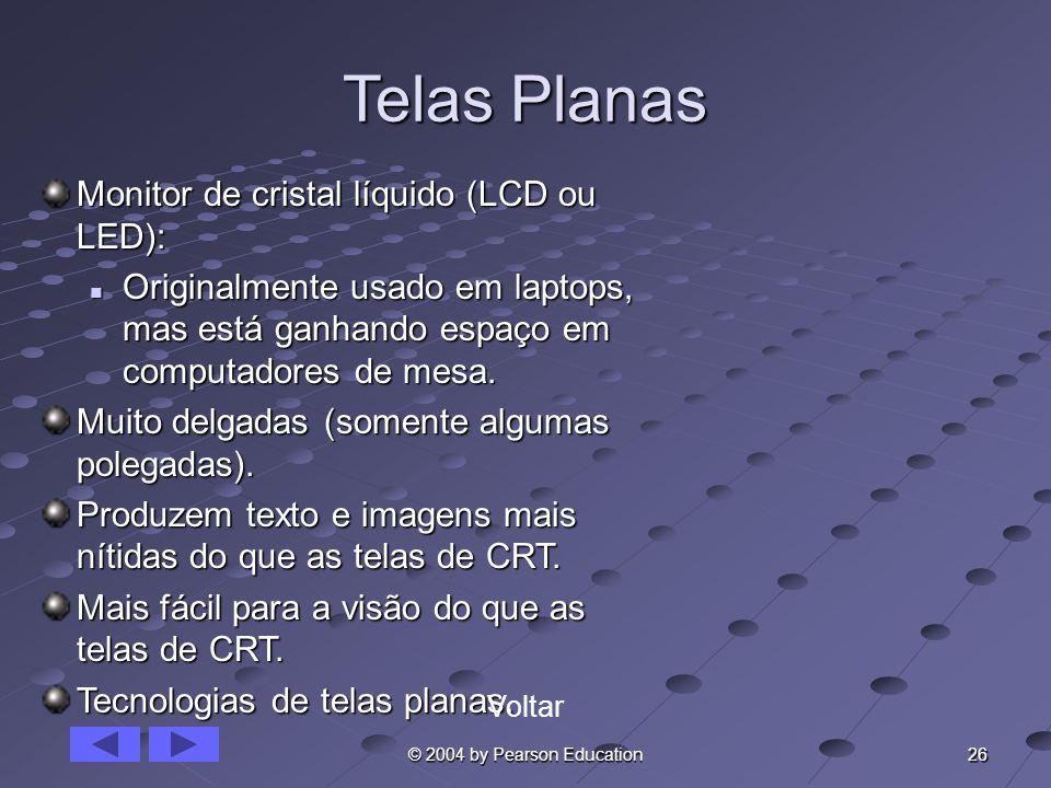 Telas Planas Monitor de cristal líquido (LCD ou LED):