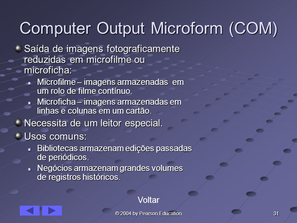 Computer Output Microform (COM)