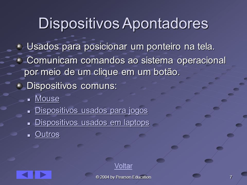 Dispositivos Apontadores