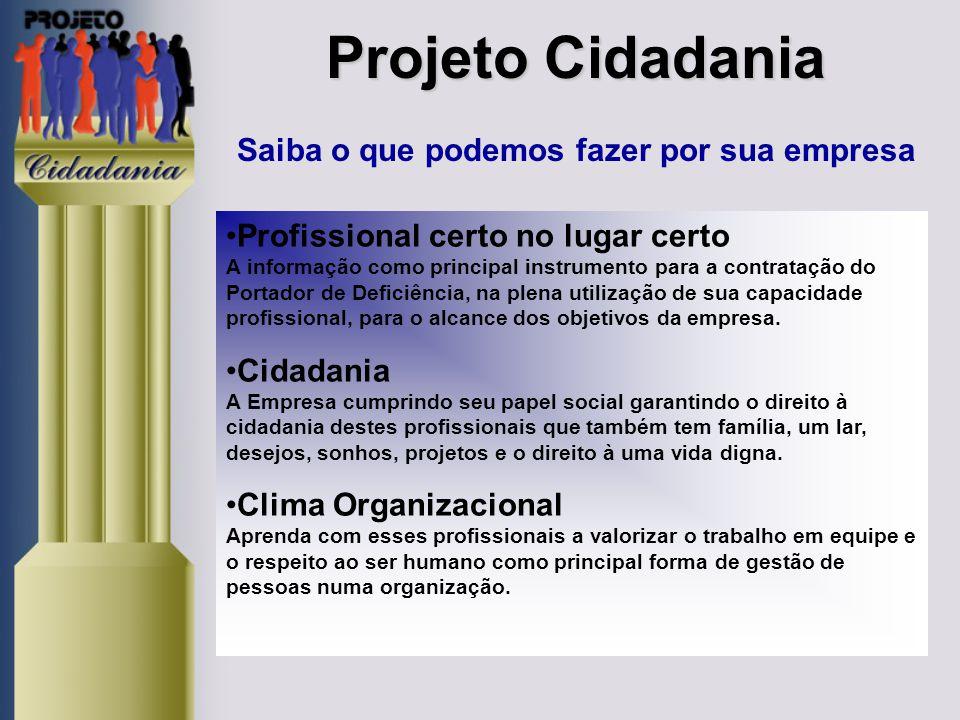 Projeto Cidadania Saiba o que podemos fazer por sua empresa