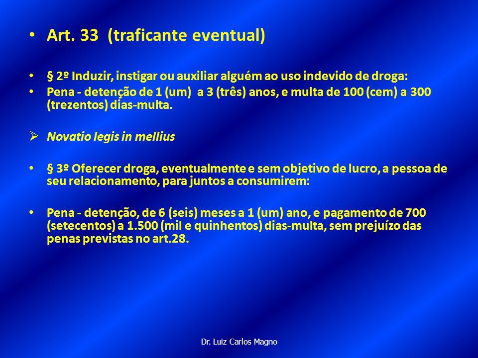 Art. 33 (traficante eventual)