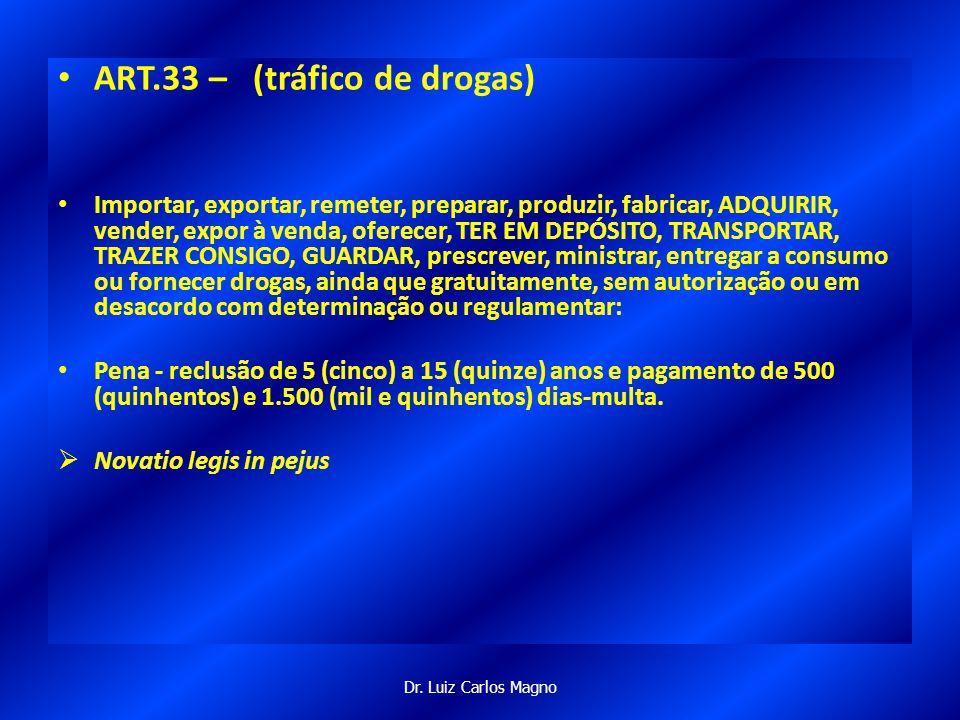 ART.33 – (tráfico de drogas)