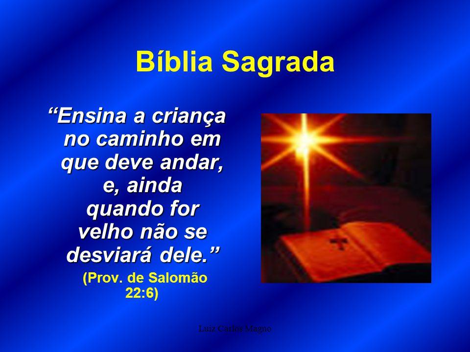 Bíblia Sagrada Ensina a criança no caminho em que deve andar, e, ainda quando for velho não se desviará dele.