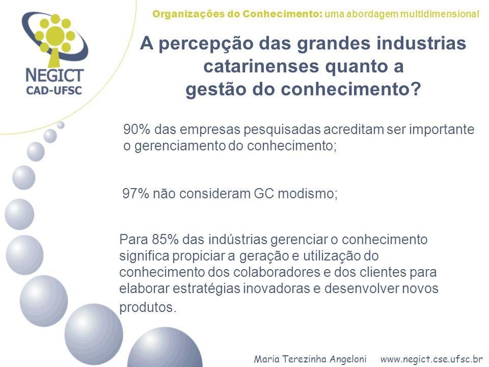 A percepção das grandes industrias catarinenses quanto a