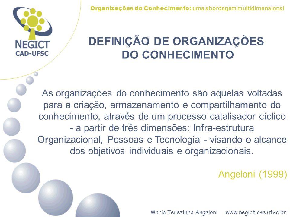 DEFINIÇÃO DE ORGANIZAÇÕES