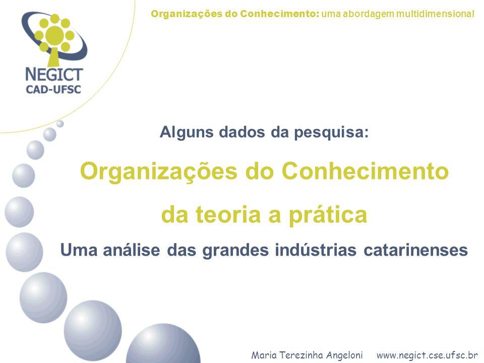 Organizações do Conhecimento da teoria a prática