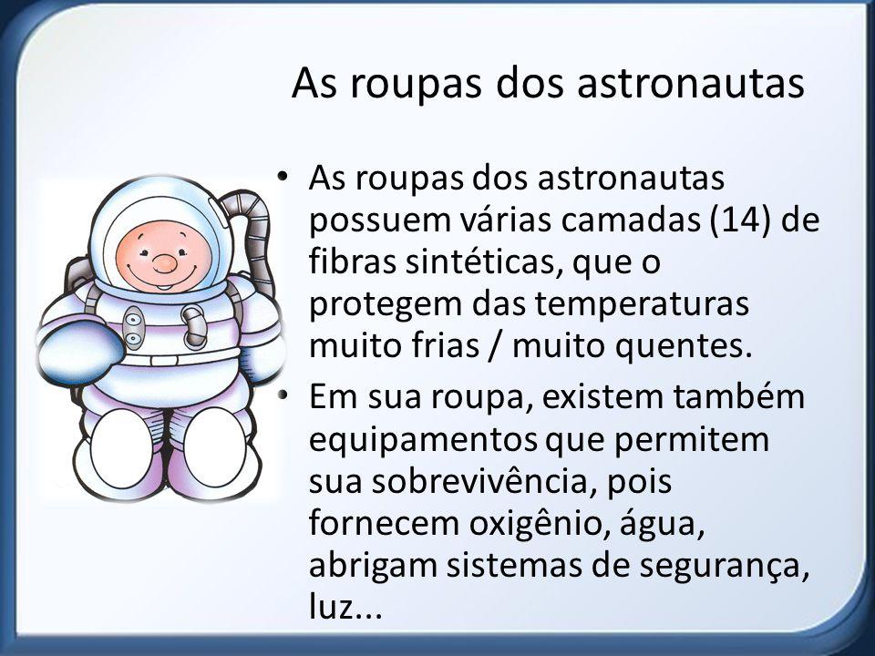 As roupas dos astronautas