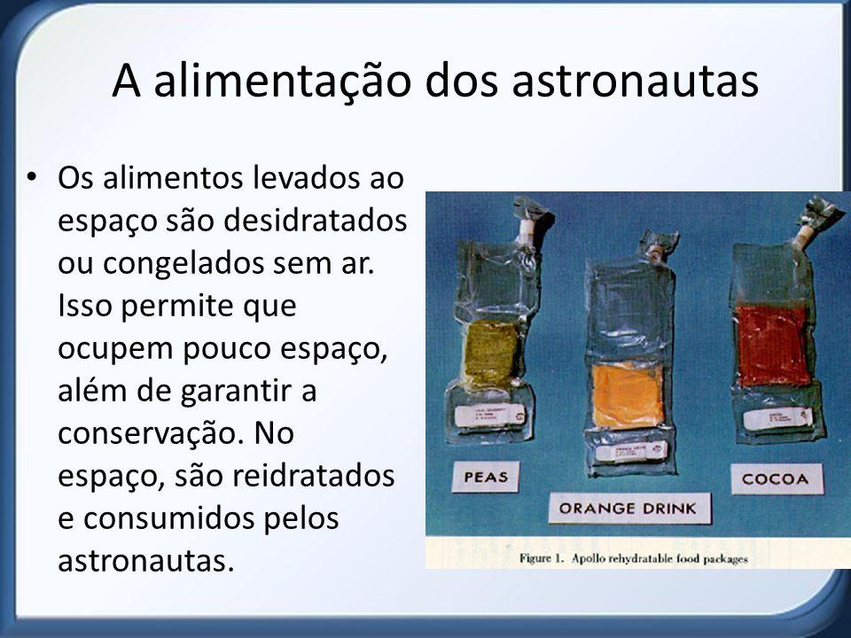A alimentação dos astronautas