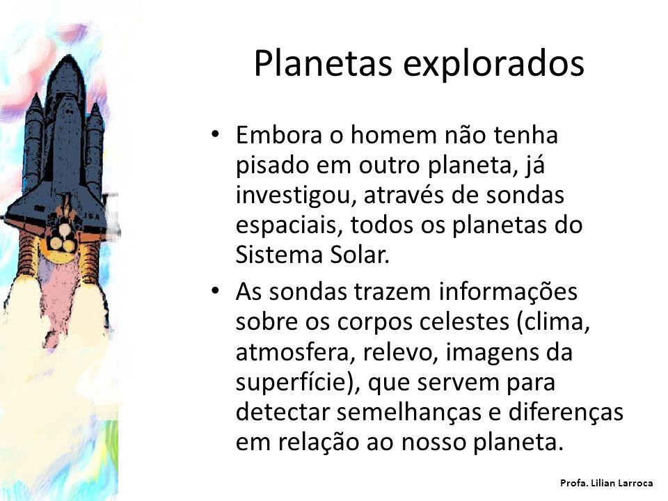 Planetas explorados Embora o homem não tenha pisado em outro planeta, já investigou, através de sondas espaciais, todos os planetas do Sistema Solar.