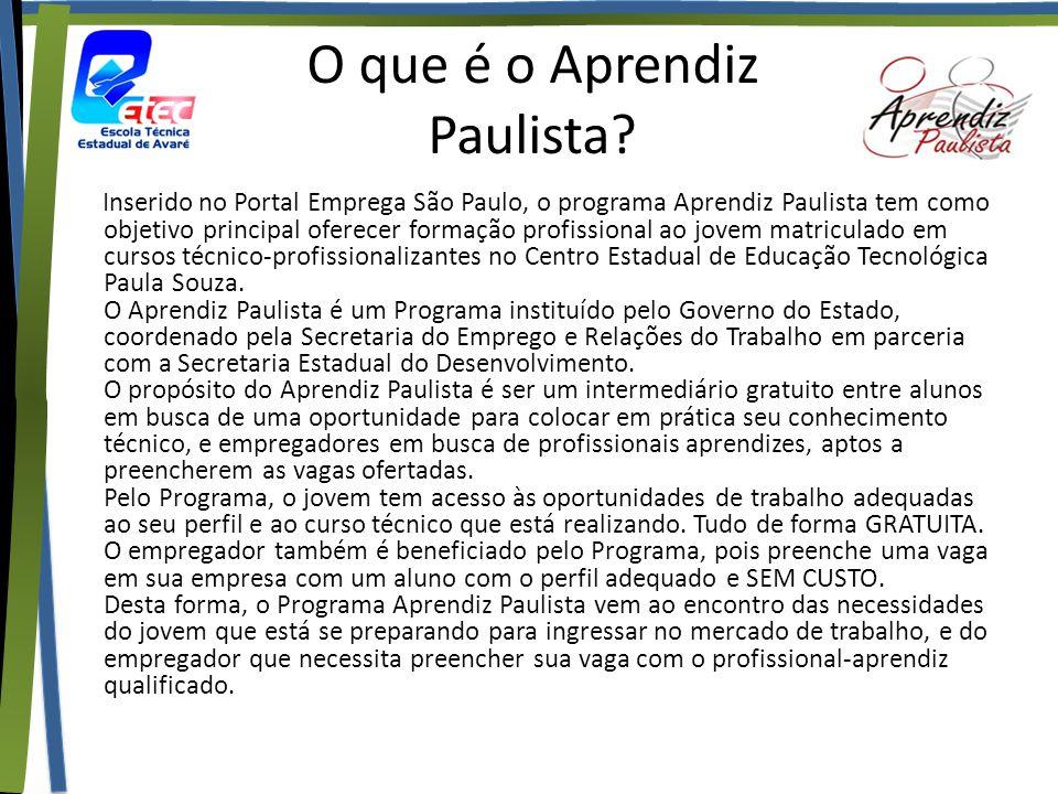 O que é o Aprendiz Paulista