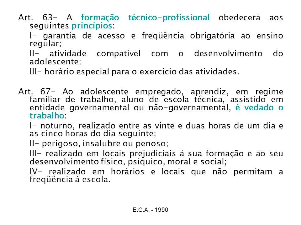 I- garantia de acesso e freqüência obrigatória ao ensino regular;