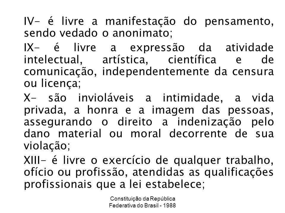 Constituição da República Federativa do Brasil - 1988