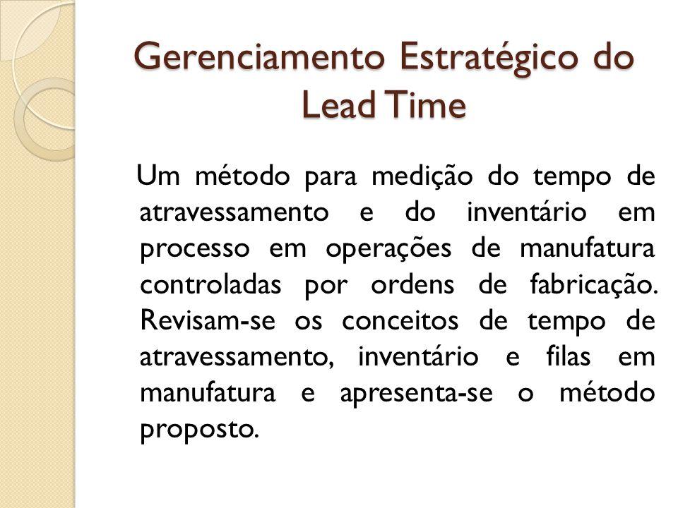 Gerenciamento Estratégico do Lead Time
