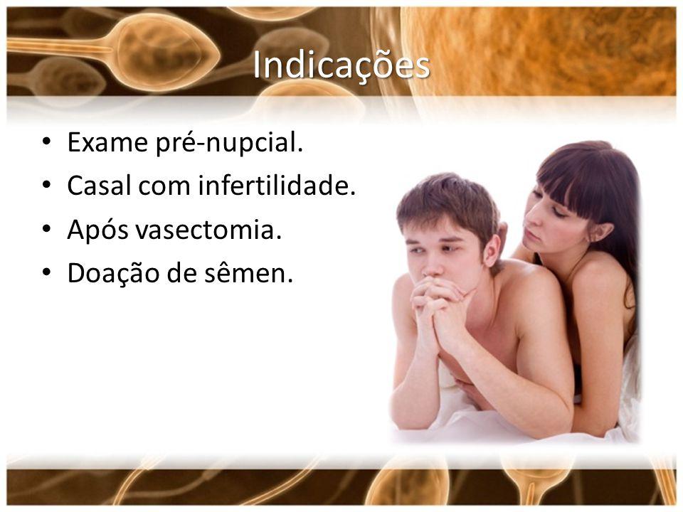 Indicações Exame pré-nupcial. Casal com infertilidade.