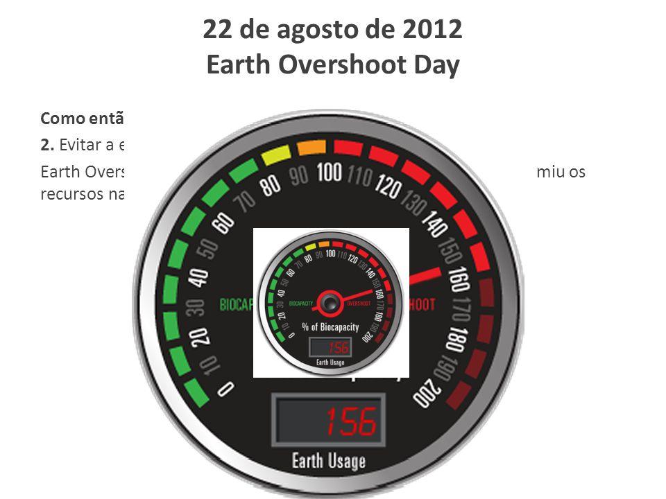 22 de agosto de 2012 Earth Overshoot Day
