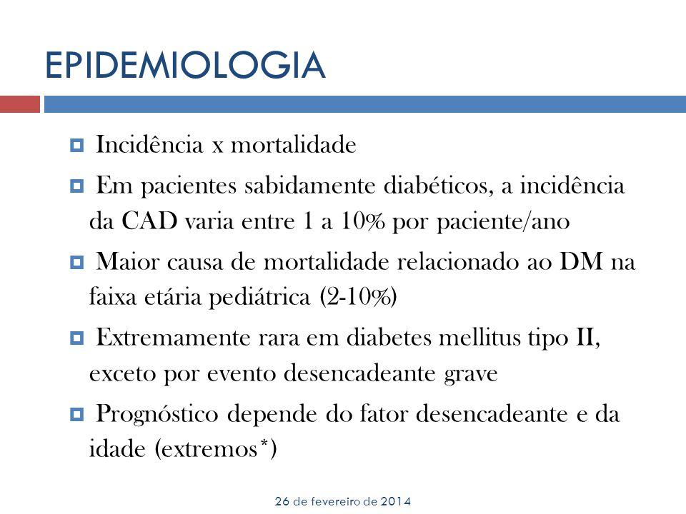 EPIDEMIOLOGIA Incidência x mortalidade