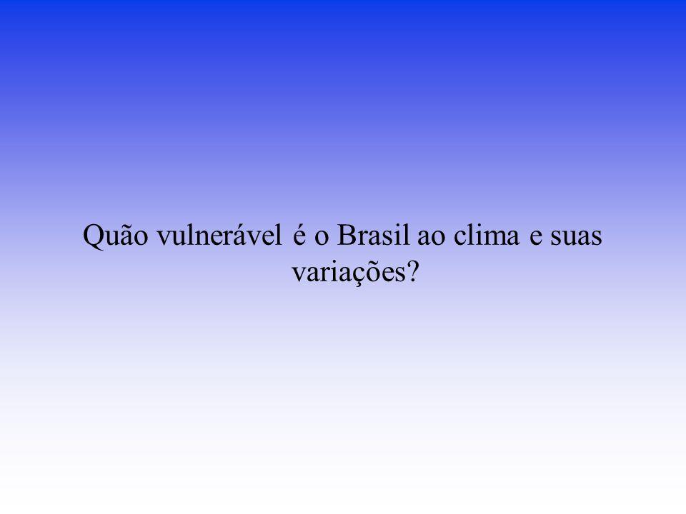 Quão vulnerável é o Brasil ao clima e suas variações