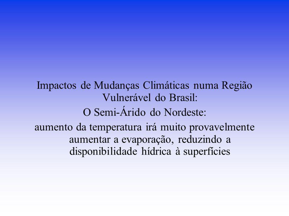 Impactos de Mudanças Climáticas numa Região Vulnerável do Brasil: