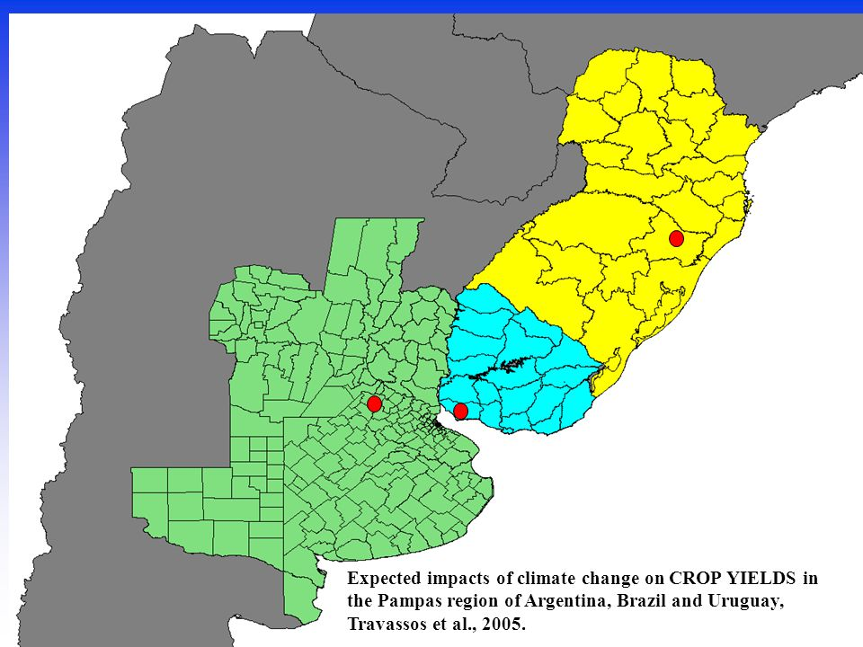Expected impacts of climate change on CROP YIELDS in