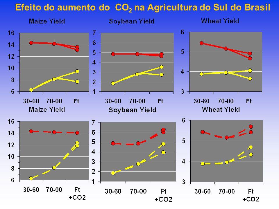 Efeito do aumento do CO2 na Agricultura do Sul do Brasil