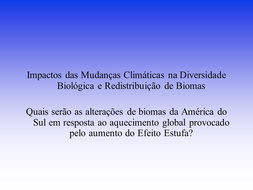 Impactos das Mudanças Climáticas na Diversidade Biológica e Redistribuição de Biomas