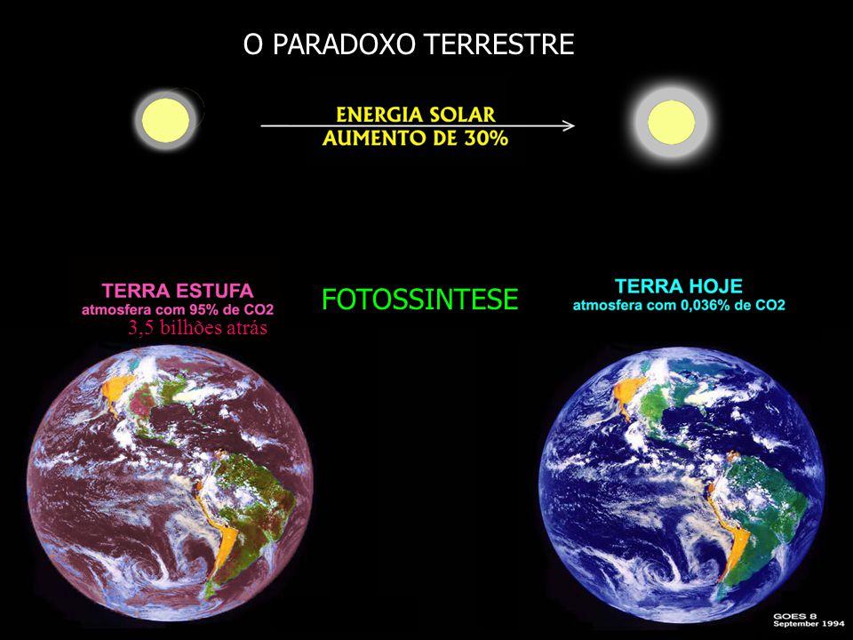 O PARADOXO TERRESTRE FOTOSSINTESE 3,5 bilhões atrás