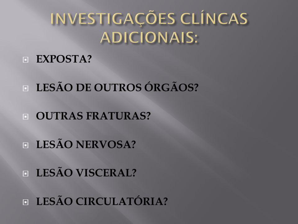 INVESTIGAÇÕES CLÍNCAS ADICIONAIS: