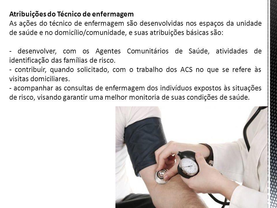 Atribuições do Técnico de enfermagem
