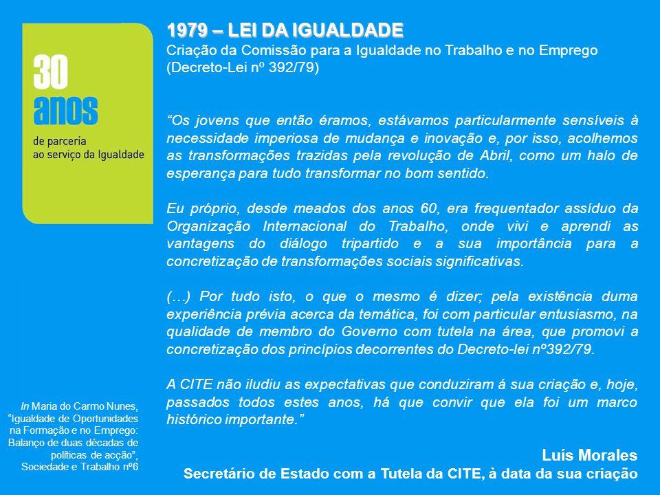 1979 – LEI DA IGUALDADE Luís Morales
