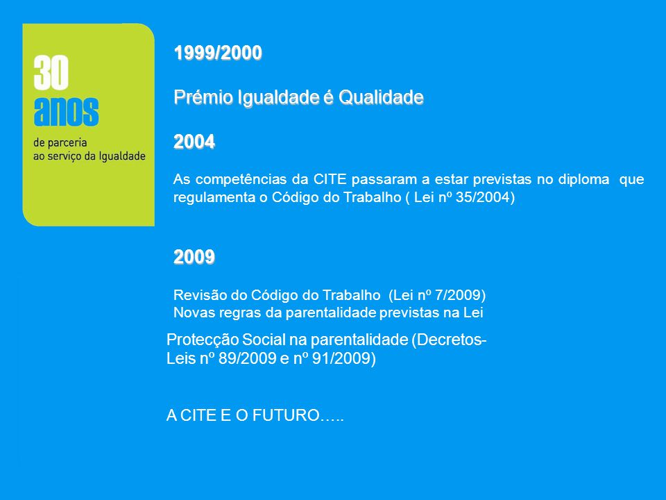 Prémio Igualdade é Qualidade 2004