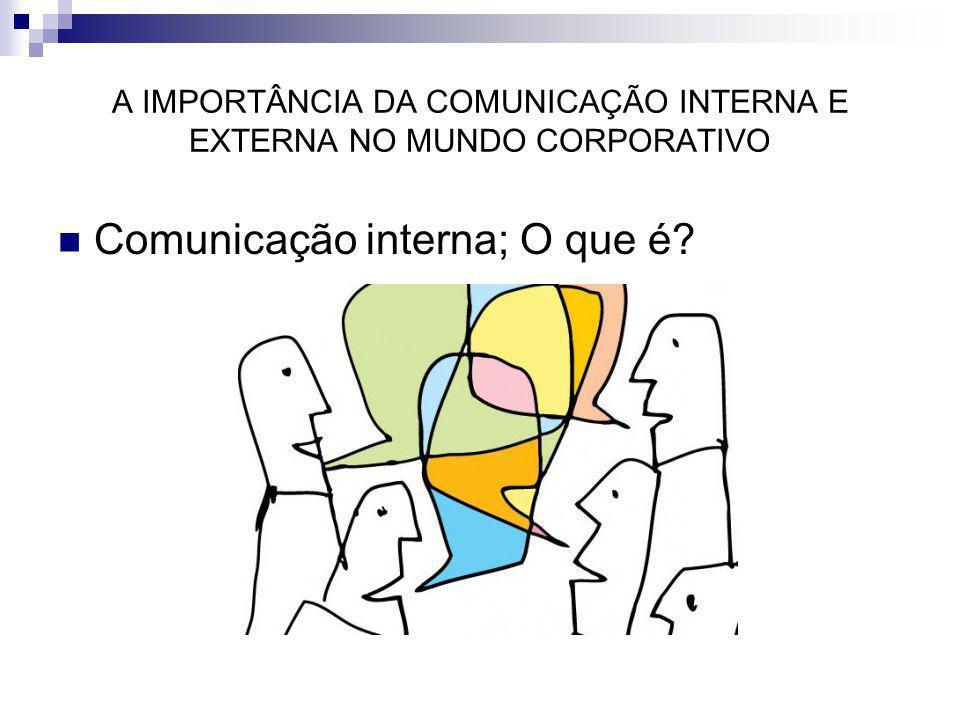 A IMPORTÂNCIA DA COMUNICAÇÃO INTERNA E EXTERNA NO MUNDO CORPORATIVO
