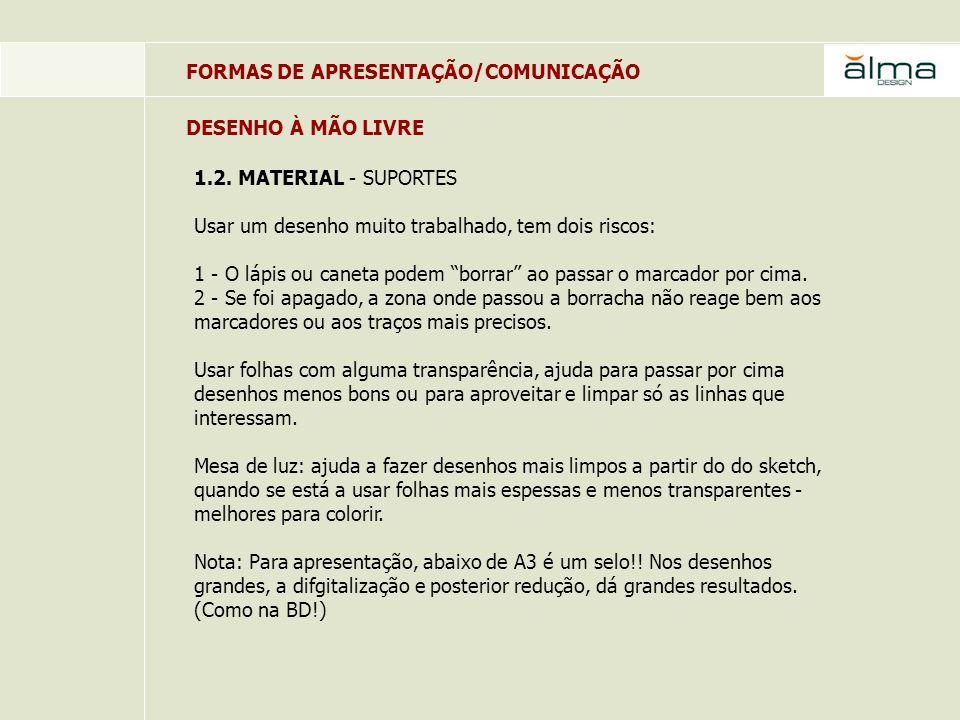 FORMAS DE APRESENTAÇÃO/COMUNICAÇÃO