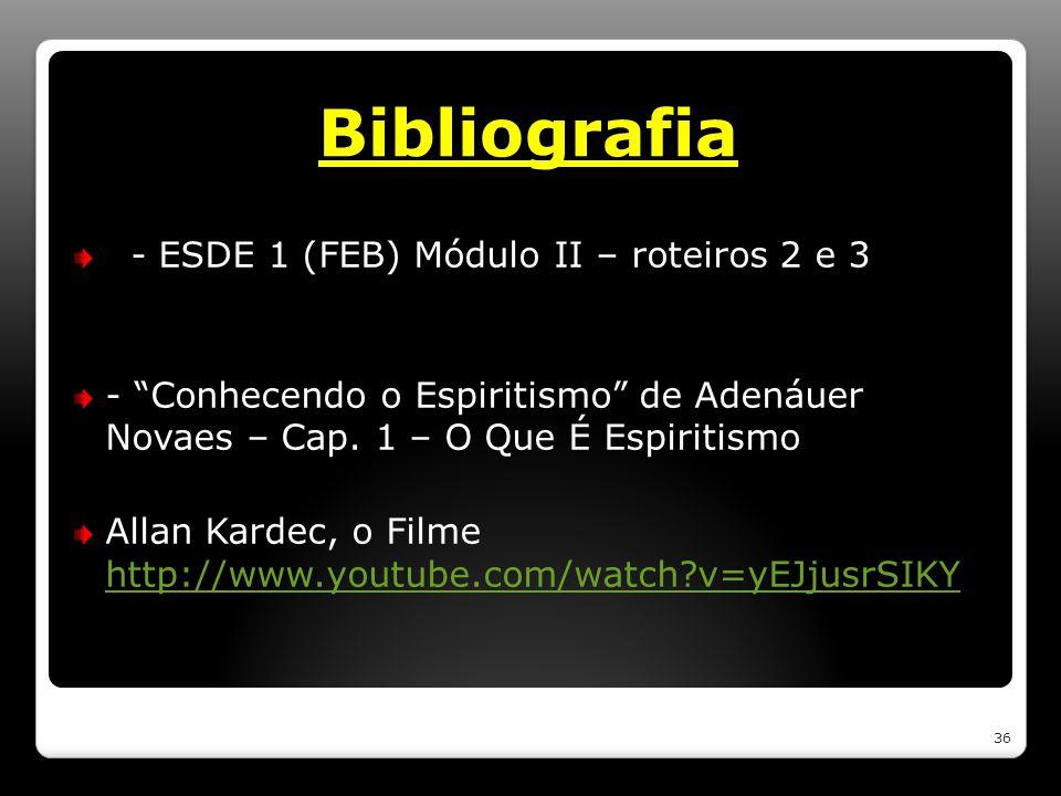 Bibliografia - ESDE 1 (FEB) Módulo II – roteiros 2 e 3