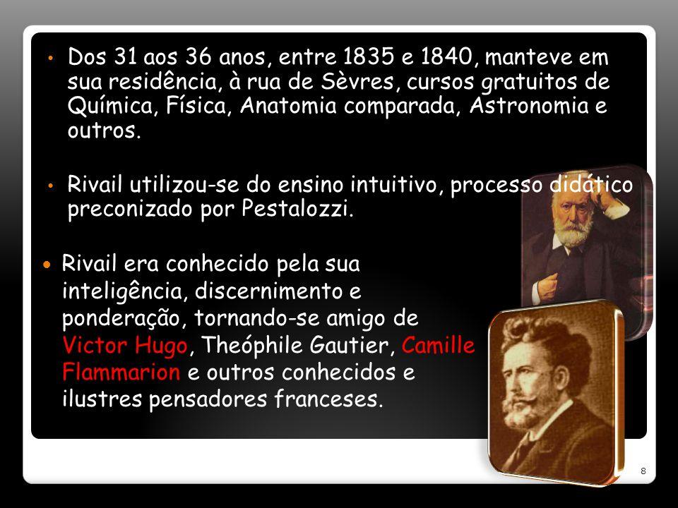 Dos 31 aos 36 anos, entre 1835 e 1840, manteve em sua residência, à rua de Sèvres, cursos gratuitos de Química, Física, Anatomia comparada, Astronomia e outros.