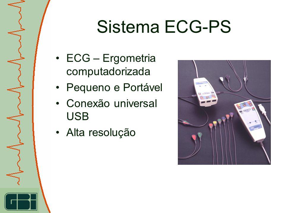 Sistema ECG-PS ECG – Ergometria computadorizada Pequeno e Portável