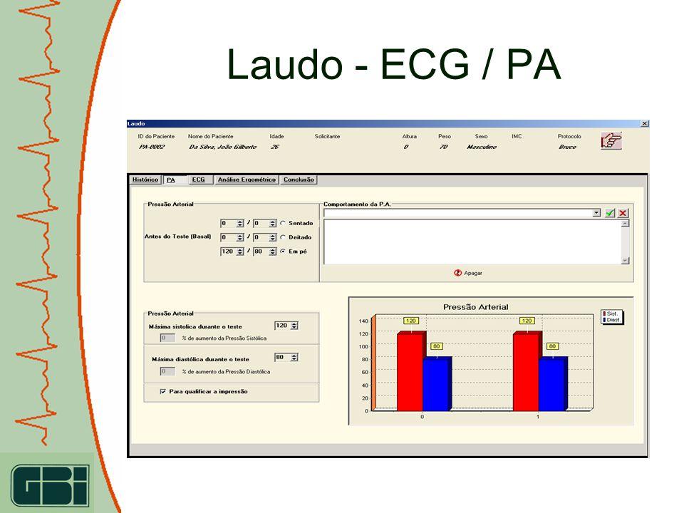 Laudo - ECG / PA