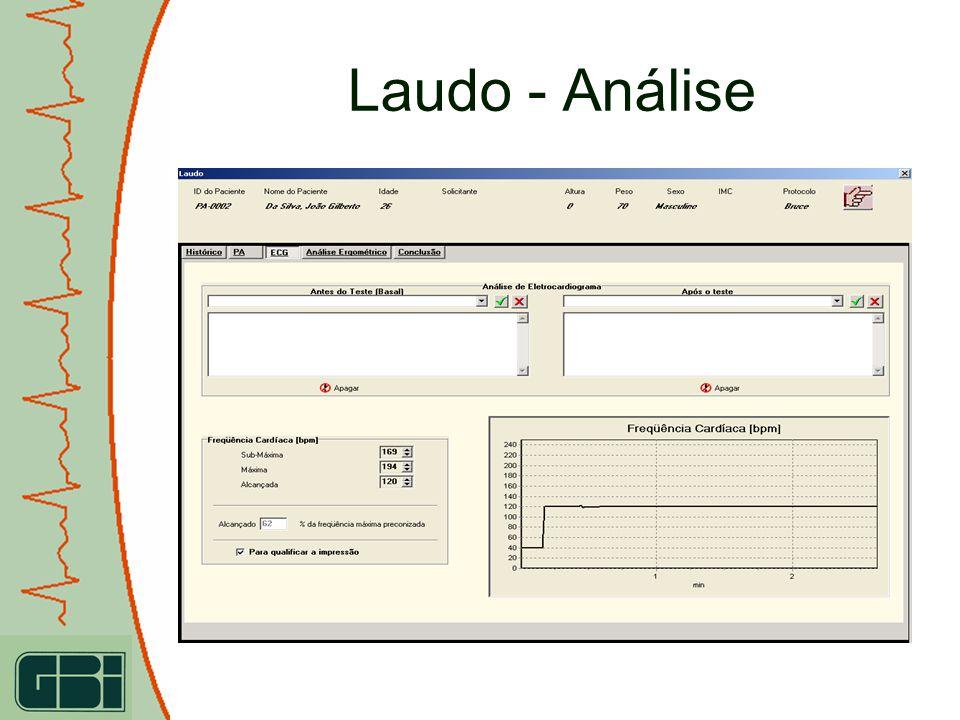 Laudo - Análise